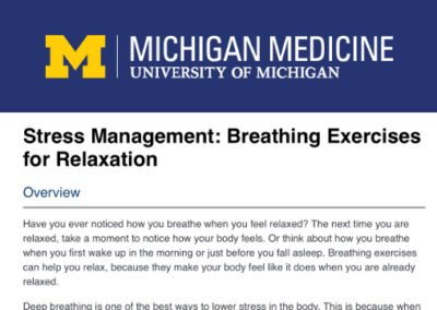 Stress Management: Breathing Exercises for Relaxation.